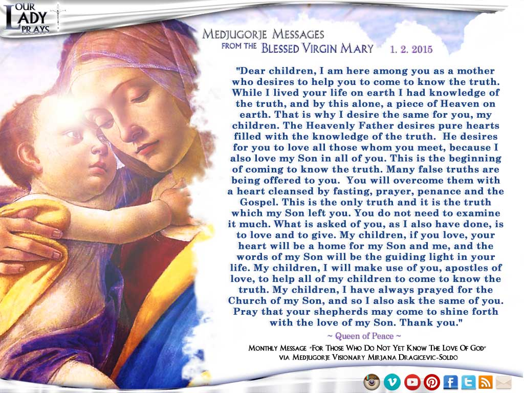 Messages de Virgin Mary