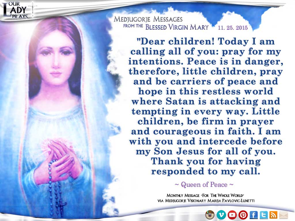 MESSAGE OF THE VIRGIN MARY -
